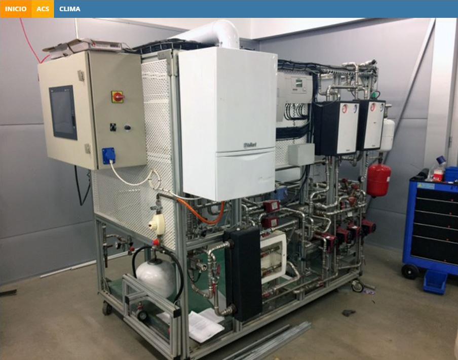 MAQUET DIDACTICA Simulación Solar, Calefacción y ACS caldera y apoyo Solar