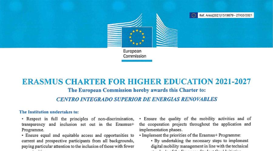 Cenifer CISER Carta Erasmus 2021